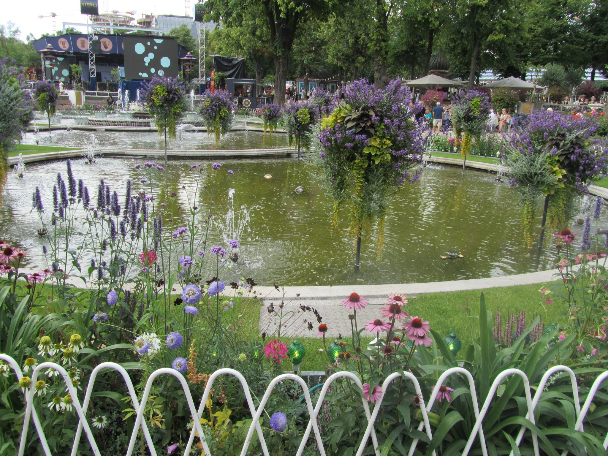Gardens at Tivoli, Copenhagen, Denmark
