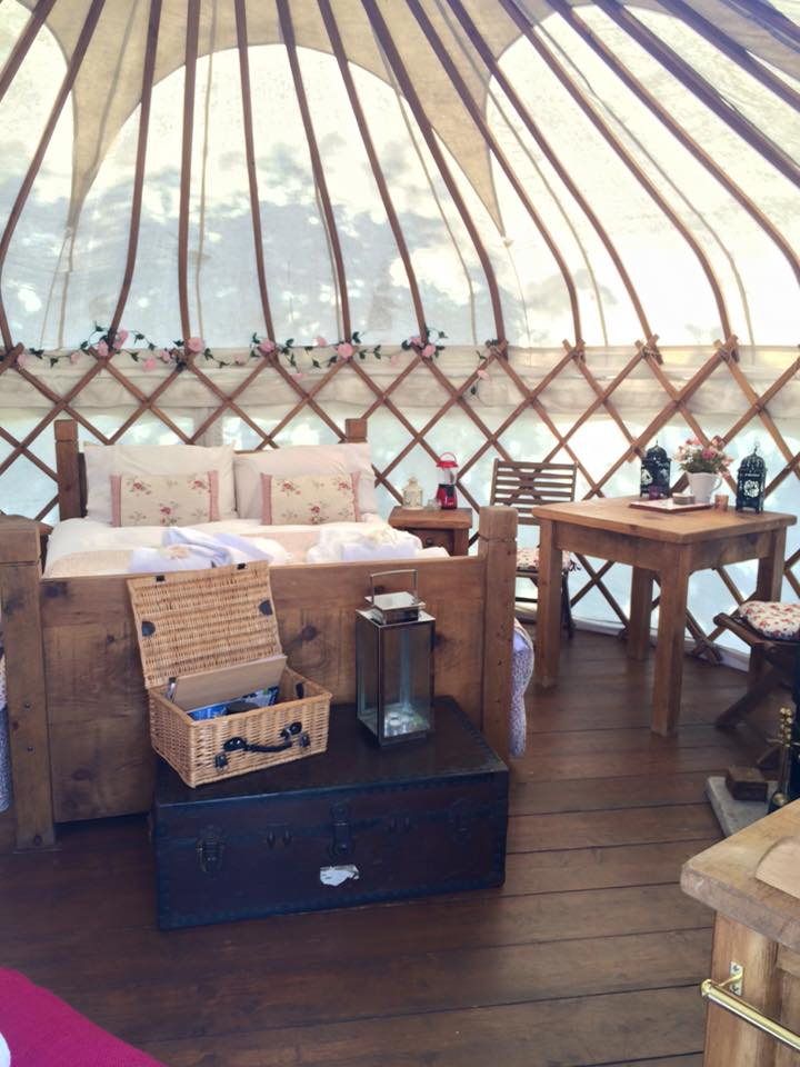 Beautiful yurt at Secret Cloud House Holidays Glamping site